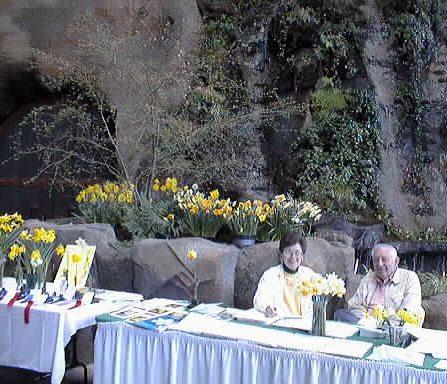 Jan and Wayne at the courtesy table.