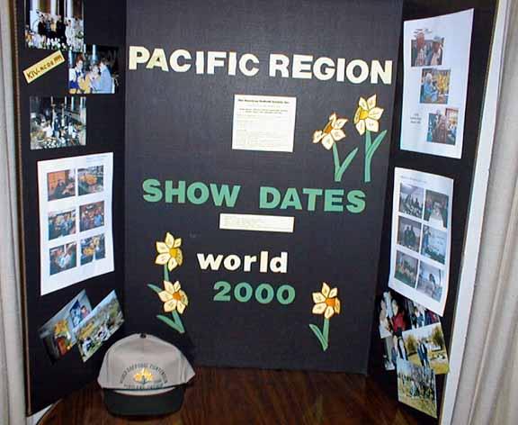 A display prepared by Gene and Nancy Cameron.