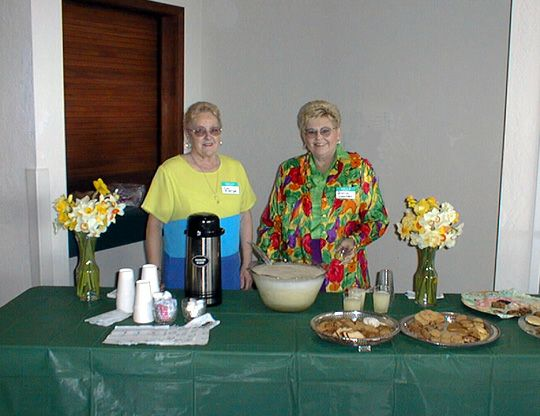 Refreshment table at Fortuna Daffodil show
